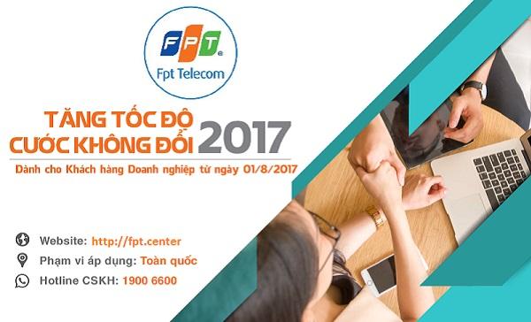 FPT Telecom tăng tốc độ 200% cho gói internet cáp quang doanh nghiệp