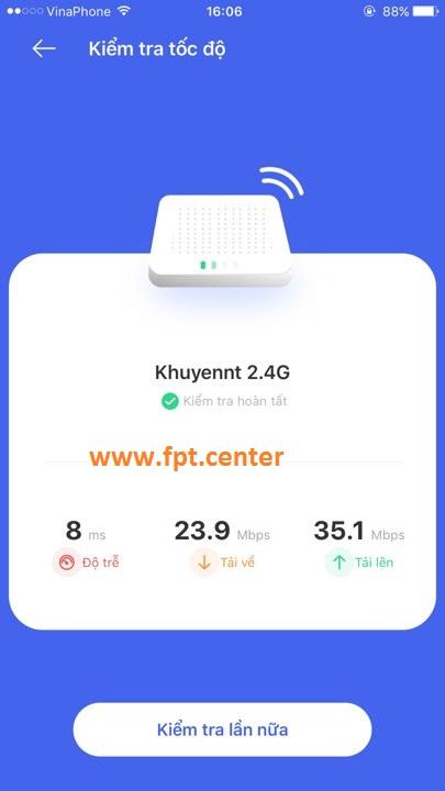 Kiểm Tra tốc độ mạng FPT thực tế bằng Hi Fpt và Speedtest