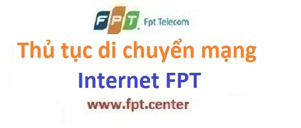 Thủ tục chuyển địa chỉ chuyển địa điểm FPT