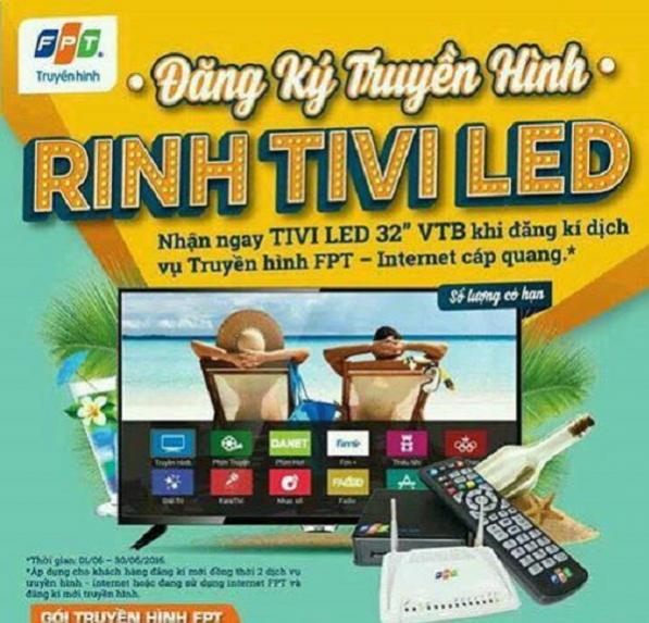 Đăng ký truyền hình FPT Rinh TV LED 32 inch VTB
