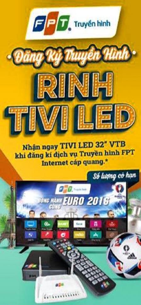 Lắp đặt truyền hình FPT ring TV LED 32 inche