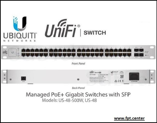 UniFi US-48-500W bộ chuyển mạch cấp nguồn Poe Ubiquiti